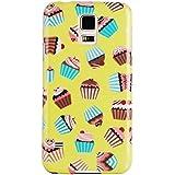 JAMMYLIZARD | Zuckersüße Cupcakes Back Cover Hülle mit Muster für Samsung Galaxy S5 / S5 Neo, HIMBEERE