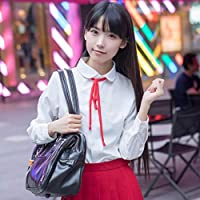 FXC Uniformes escolares Anime Cos Sailor Traje Tops + Corbata + Falda Jk Estilo Marino Ropa para Niña Anime Ropa de Anime Cos