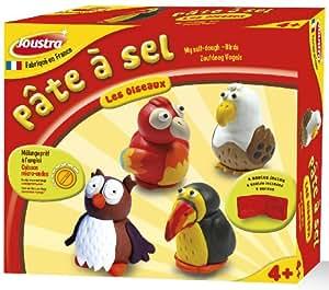 Joustra - 43012 - Kit de Loisir Créatif - Pate à Sel - Les Oiseaux - 4 Moules