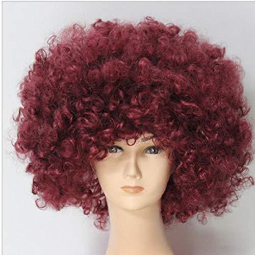 Xthy parrucca da uomo capelli corti scompigliati e arruffati, giovanile, alla moda parrucca maschio riunione annuale della parrucca di attività divertenti della parrucca dei capelli ricci della parruc