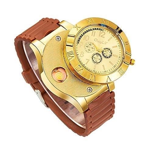 Ecrin Montres - Ckeyin ®2en1 Montre-bracelet à quartz - Cigarette