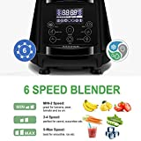 Smoothie Blender AIMORES, 4 Programmed Setting Ice Crusher, Maker, Juicer, Mixer with 75oz Tritan Pitcher, 6 Sharp Stainless Steel Blades - CE,LFGB,RoHS Approal
