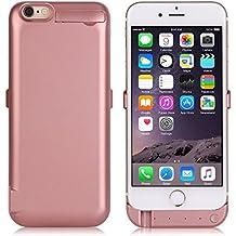 """ZOGIN Funda Batería iphone 6 / 6s, 10000mAh Funda Protectora Cargador / Funda de Batería Integrada Recargable de Alta Capacidad con Soporte de Móvil Plegable para iPhone 6 / 6s 4.7"""", Color Rosa"""
