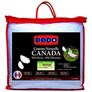 dodo couette canada 50 duvet 240x260 tr s chaude naturel anti acariens cuisine. Black Bedroom Furniture Sets. Home Design Ideas