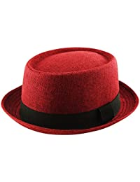 8a929225a93 Adult Pork Pie Trilby Fedora Jute Hessian Feel Hat Band Unisex (Breaking  Bad Heisenberg Style