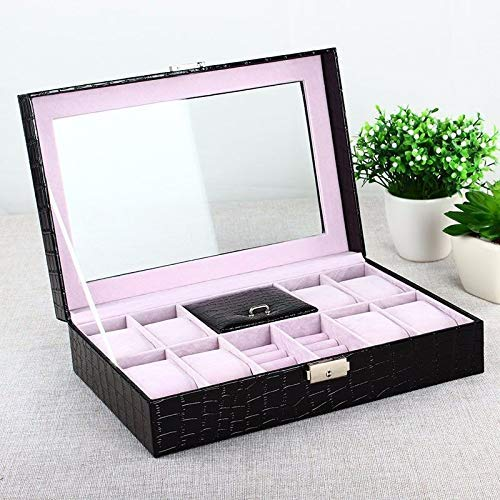 Preisvergleich Produktbild Nelson Jewellery Box,  Jewellery Storage Organizer Ohrringe Fall für Travel Home Portable Storage