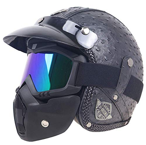 WHL Casco De Moto Moto De Gama Alta Medio Protector