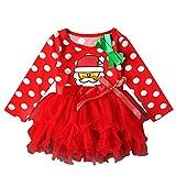 Elyseesen Chic Tout-petits enfants bébé filles manches longues vêtements de Noël partie concours Tutu robes (2-3 ans/100)