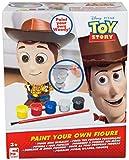 Disney Pixar Set de Pinturas para Figuras Woody de Toy Story   Juego de Manualidades con 5 Pinturas, Figura 14 cm de Escayola, Pincel, Guía Colores   Pintar Personajes para Niños Desde los 3 años