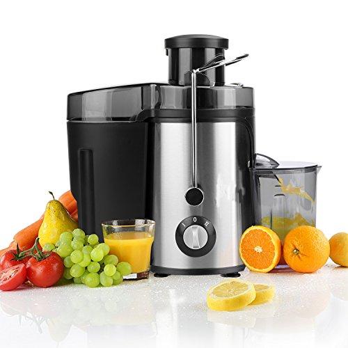 Befied Licuadora para Verduras y Frutas con Jarra de Zumo de Acero Inoxidable con Dos Velocidades, 350W