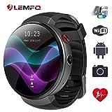 Lemfo Lem7 montre intelligen– Android 7.0 4 G LTE 2 MP Caméra montre téléphone 16 Go de ROM Intégré Translator Bluetooth/GPS/moniteur de fréquence cardiaque Sports montre intelligente pour Android IOS