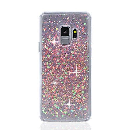 Galaxy S9 Hülle, Bling Glitzer Galaxy S9, Asnlove Glitzer Silikon-Case Back-Cover Schutzhülle, Glitter Sparkle Handy-Tasche Bumper, Dünnes Bling Strass Phone Etui für Samsung Galaxy S9 Case Cover Strass Bling Back Case