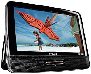 philips pd9122 lecteur dvd dvix mp3 portable double cran 9 39 39 22 9 cm r sistant aux chocs avec. Black Bedroom Furniture Sets. Home Design Ideas