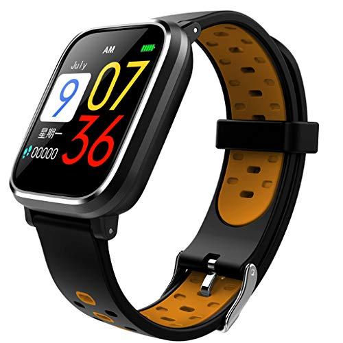 VRTUR Armbanduhr Männer Sport Wasserdicht IP67 Sportmodus Herzfrequenz Blutdruck Armband Kalorien Sleep Detection Bluetooth Smartwatch LCD Bildschirm Orange