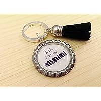 Schlüsselanhänger Kronkorken – Ich hör nur mimimi & Samt Quaste – Handmade