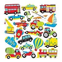 Transport Foam Stickers (Pack of 120)