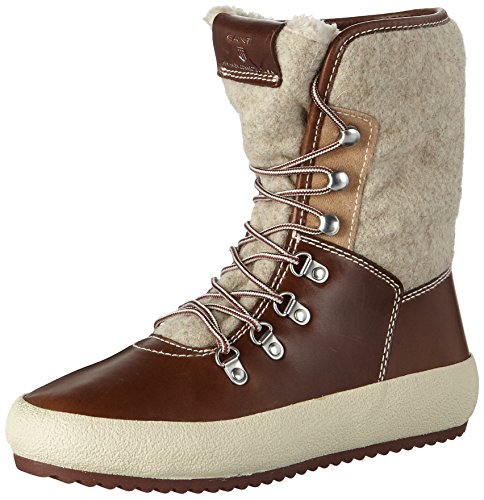 GANT Footwear Damen Amy Schneestiefel, Braun (Cognac/Camel), 38 EU (Wildleder Stiefel Camel)