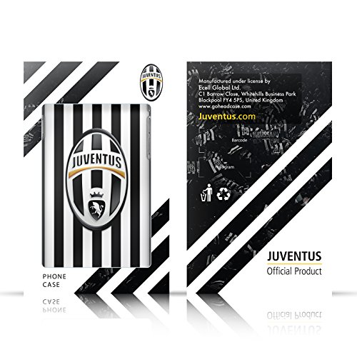 Ufficiale Juventus Football Club Banale Lifestyle 2 Cover a portafoglio in pelle per Apple iPhone 6 / 6s Nero Logo Pattern