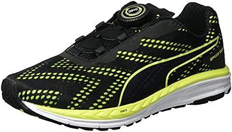 Puma Unisex-Erwachsene Speed 500 Ignite Disc Laufschuhe, Schwarz (Black-Safety Yellow 03), 41 EU