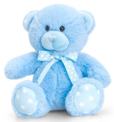 üschtier Bär in Blau, Kuscheltier Teddy sitzend 15 cm ()