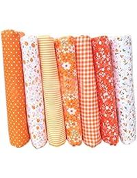 LUFA 7pcs tela de tela de artesanía de tela de algodón tela de remiendo de tejido tela de DIY de costura de acolchado patrón floral