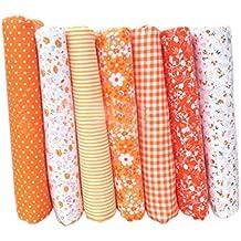 LUFA 7pcs tela de tela de artesanía de tela de algodón tela de remiendo de tejido