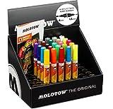 Molotow Acryl Marker One4All Acrylic Twin (mit doppelter Spitze, 1,5 mm und 4 mm, hochdeckend und permanent, UV-beständig, für fast alle Untergründe, Try Out Set) sortiert