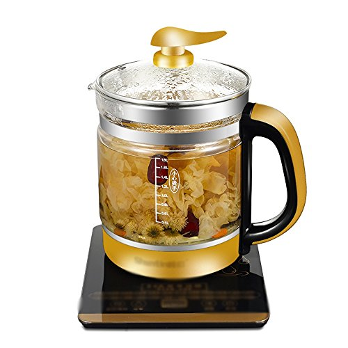 NAN Electric Kettle High Borosilicate Glass Gold Double Anti-hot 800W 1.8L High Capacity Separable Base Automatic Power Off Insulation Home  Travel