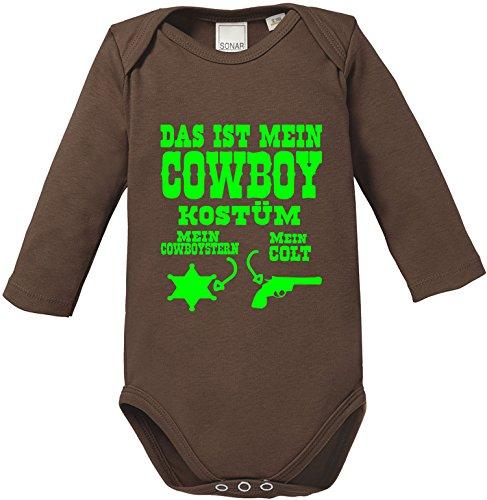 Luckja Das ist mein Cowboy Kostüm Baby Body - Mann-baby-kostüm