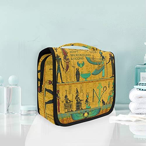 Kosmetiktasche Reise hängen Kulturbeutel Kunst alten ägyptischen Dekor Reise Aufbewahrungstasche tragbare Make-up Tasche Tasche Veranstalter Fall für Frauen -