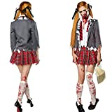 CMF High School Horror-Cheerleader Schulmädchen Kostüm Zombie Damen Gr. S 34-36