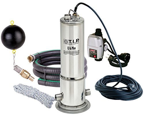 TIP-30164-Zisternen-Tauchdruckpumpe-Edelstahl-EJ-6-Plus-mit-Anschlusszubehr-und-elektronischer-Pumpensteuerung-bis-6300-lh-Frdermenge