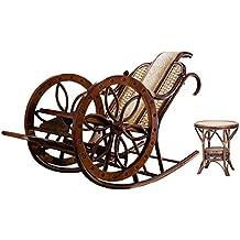Naturale bambù - rattan vimini sedia a dondolo set / longue / relax sedia suite / poltrona relax / seduta / posti / sedia / tavolino da salotto / tavolo da tè / tavolinetto a tre gambe / tavolino / fine tabella