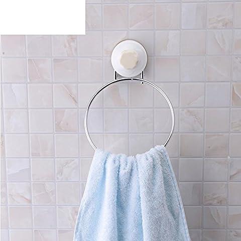 HCP étagère salle de serviette en acier inoxydable ronde/anneau de serviette mural de mur de salle de bains/porte-serviettes Super sucker