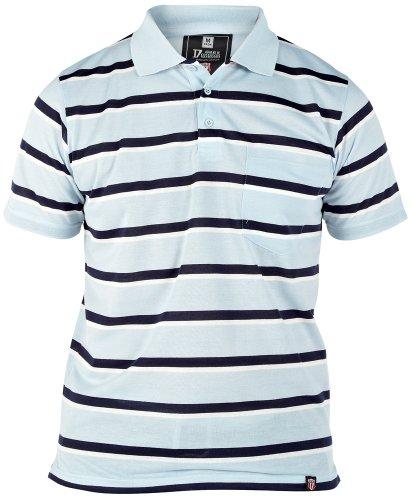 Duke Men's Polo Shirt Stripes Blau