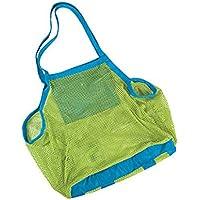 JUNGEN Bolsa de juguete portátil, juguete de playa organizar el saco plegable bolsa de red de almacenamiento para los niños (Verde) 45 * 26 * 45cm
