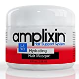 Amplixin mascarilla hidratante para el cabello – mascarilla de acondicionado profundo, hecha con aceite de coco y aceite de argán para tratamiento seco y dañado del cabello, 8 oz