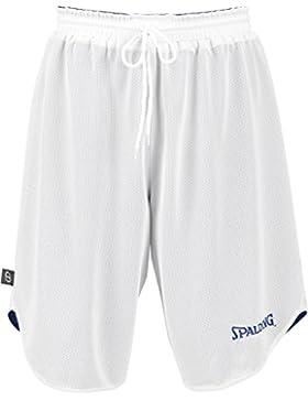 Spalding Doubleface, Conjunto reversible camiseta y pantalones de baloncesto para niños, Azul/Blanco (Royal/White...