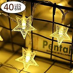 Idea Regalo - Stella Led Luce Strisce luce stringa di foto clip Chiara Stella Alimentata a Batteria illuminazione decorazione Perfetto per Giardini Casa
