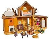 Simba Masha & Michka Masha-Haus mit 2 Etagen + 1 Puppe 12 cm und Zubehör