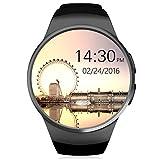 Smartwatch, HUMTUS Armbanduhr Bluetooth 4.0 IPS Touchscreen Herzfrequenz Schrittzähler Schlafmonitor Sitzende Erinnerung Audio-Player Videoplayer 1.3 Zoll GSM für Android OS und iOS--Micro SIM Slot
