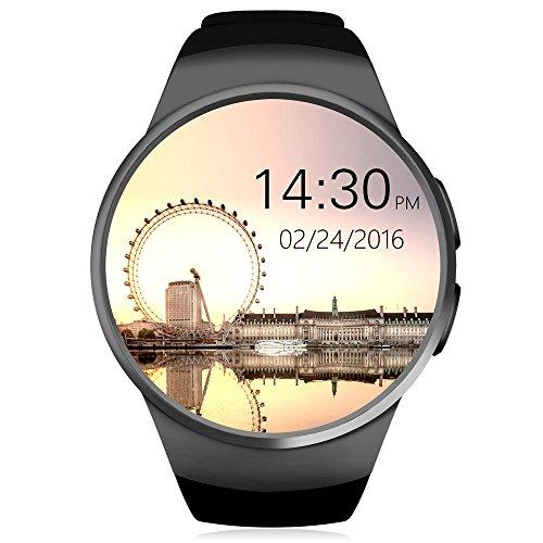 Smartwatch, HUMTUS Armbanduhr Bluetooth 4.0 IPS Touchscreen Herzfrequenz Schrittzähler Schlafmonitor Sitzende Erinnerung Audio-Player Videoplayer 1.3 Zoll GSM für...