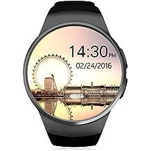 Smartwatch, HUMTUS Armbanduhr Bluetooth 4.0 IPS Touchscreen Herzfrequenz Schrittzähler Schlafmonitor Sitzende Erinnerung Audio-Player Videoplayer 1.3 Zoll GSM Micro SIM Slot für Android OS und iOS
