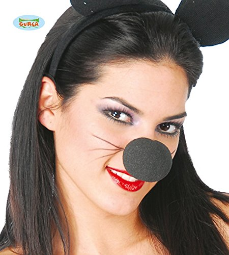 82 - Schwarzer Schaum Clownnase aus Gummi, 5 cm (Halloween-fiesta)
