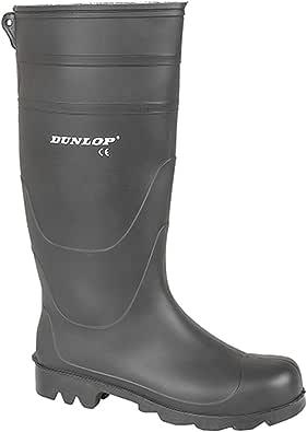 Dunlop Mens Wellington Boots Waterproof Wellington Wellies Boots (6 UK, Black)