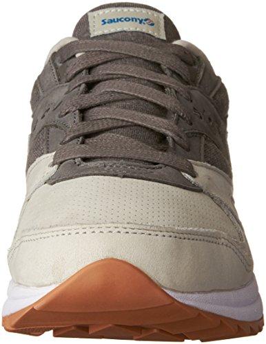 Saucony Light Grau/Dark Grau Grid 8000 Sneakers Grau