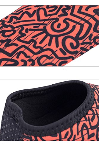 Cokar Water calzini per surfing Quick Dry Aqua pelle a piedi nudi slip-on durevole leggero scarpe spiaggia nuotata adulto Orange