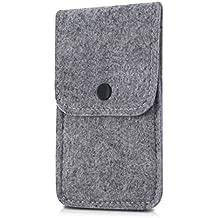 kwmobile Elegante funda con cierre de botones para Smartphones en gris