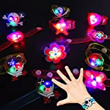 German Trendseller 6 x Kinder LED Armbänder Mix ┃ Neu ┃ Blinklicht ┃ Mitgebsel ┃ Kindergeburtstag ┃Schulweg �