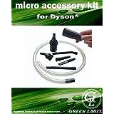 Kit Universal Mini Micro de Herramientas Adaptables para aspiradoras Dyson. Producto genuino de Green Label